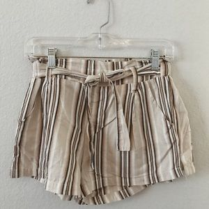 Cotton Multicolored Paperbag Shorts